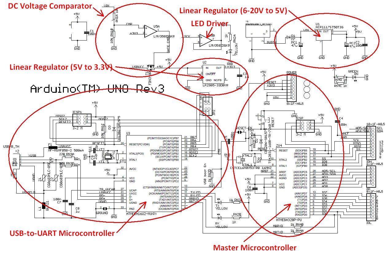 From Arduino Prototype To Manufacturable Product Flash Circuit Flickr Photo Sharing Marked Up Schematic Diagram For An Uno