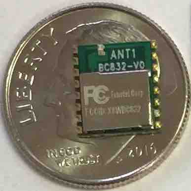Fanstel's smallest BLE module is the BC832