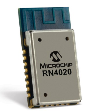The Microchip RN4020 BLE module based on the CSR101x SoC