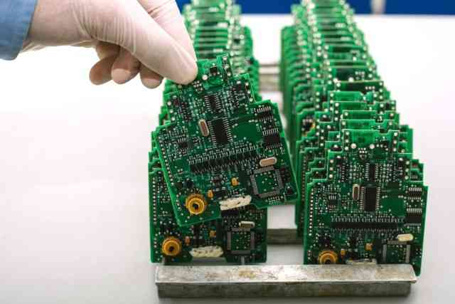 Printed Circuit Board for a new product after all components have been soldered