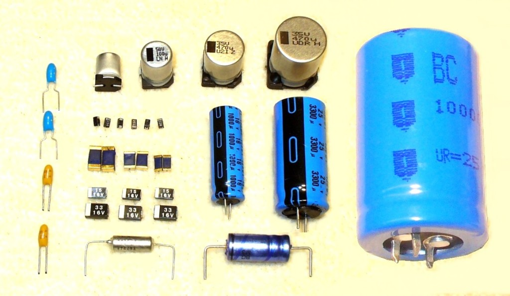 Examples of various capacitors