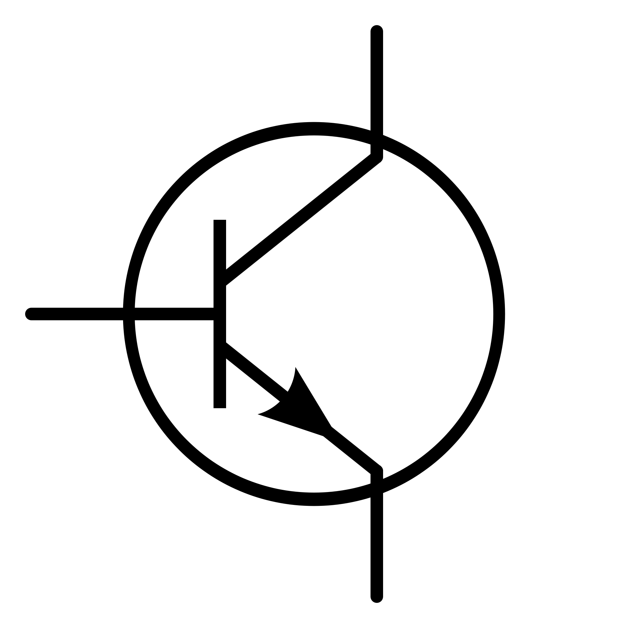 Symbol for a transistor