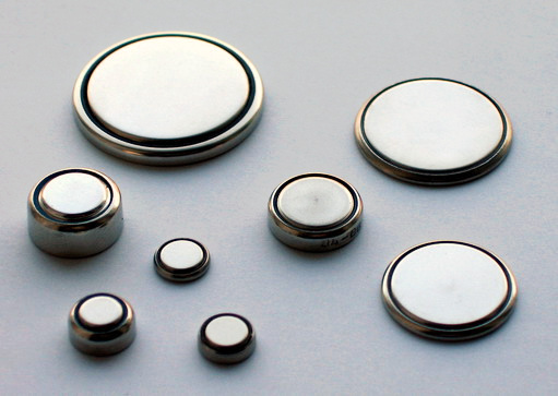 Disposable lithium-metal coin cell batteries come in various sizes.