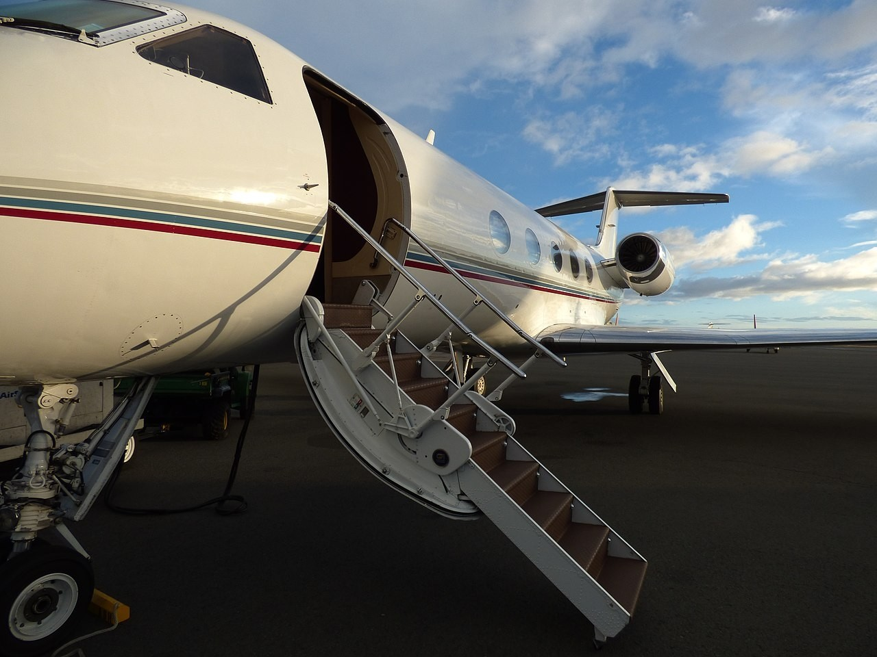 Inside a private luxury jet