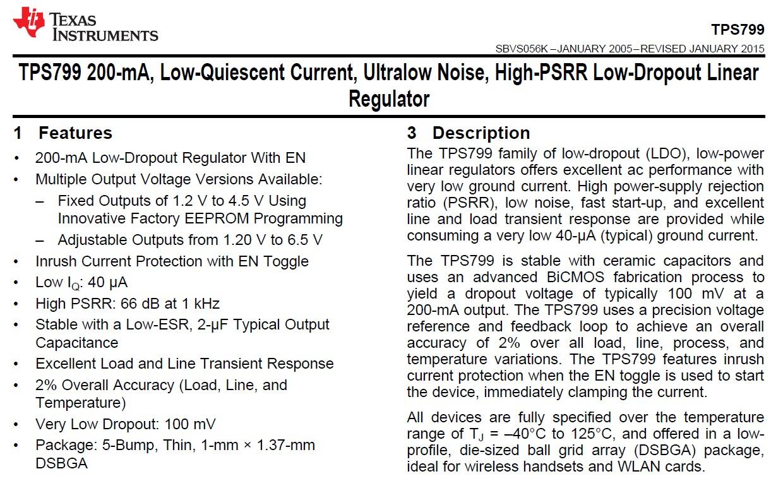 Datasheet Tutorial Texas Instruments Tps799 Low Dropout Linear Voltregulator Negative Fixedvoltage Regulator Circuit Diagram Tweet15