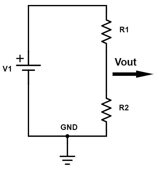 Electronic circuit: Resistor divider