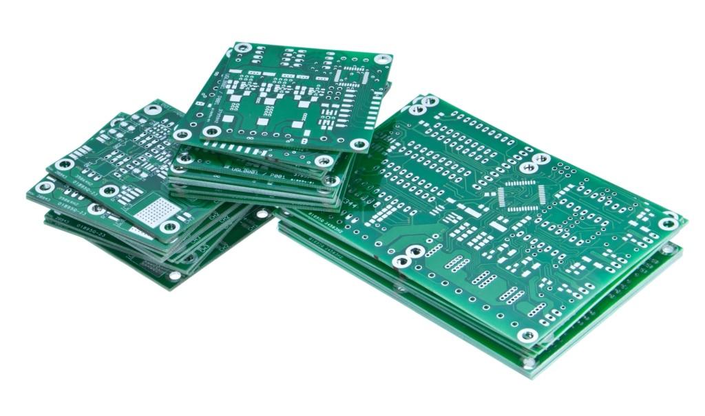 Stacks of printed circuit boards